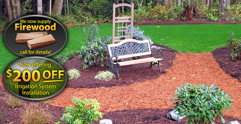 garden landscaping and organic mulch by Rayner Enterprises