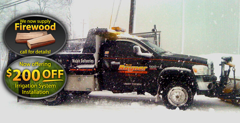 complete snow management and removal service by Rayner Enterprises