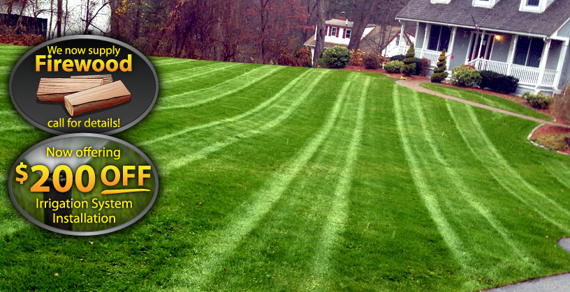 beautifully landscaped lawn by Rayner Enterprises